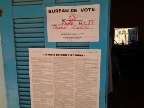 Bureau de vote ministre économie et finances Amadou Ba